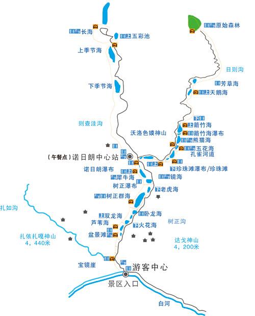 九寨沟景区地图(来源官网)